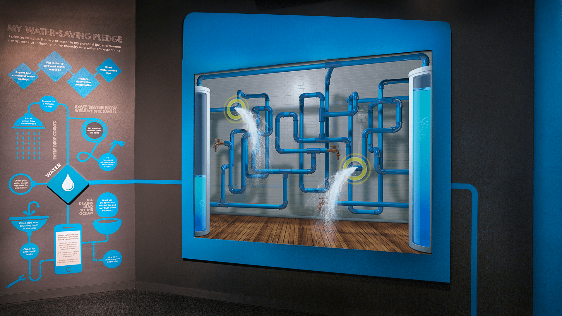 Smart Living Water Saver Exhibit created by Formula D interactive